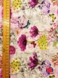 Tejido de popelín con estampado floral 100% algodón