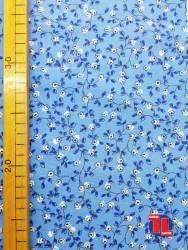 Tejido de popelin estampado floral 100% algodón