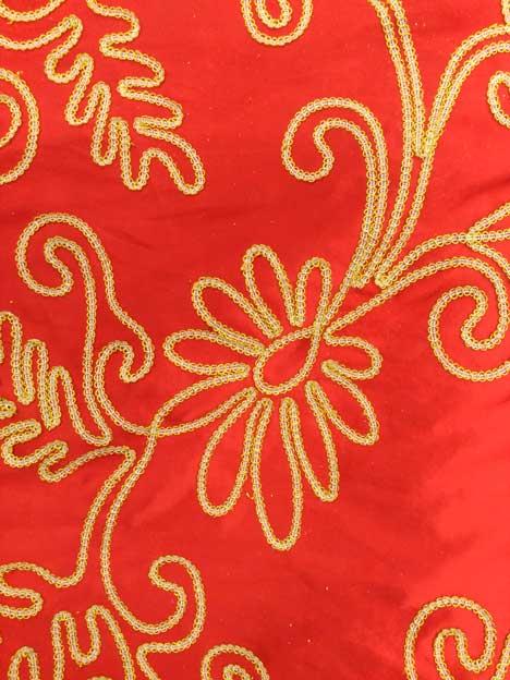Martele Rojo Labrado Oro 028