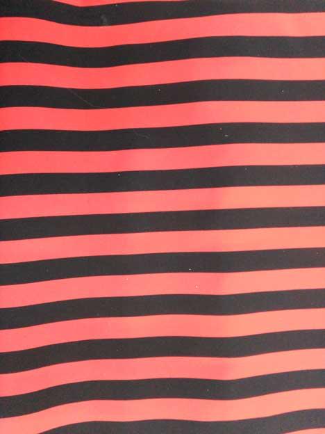 Strech Estampado Rayas Rojo/Negro 039