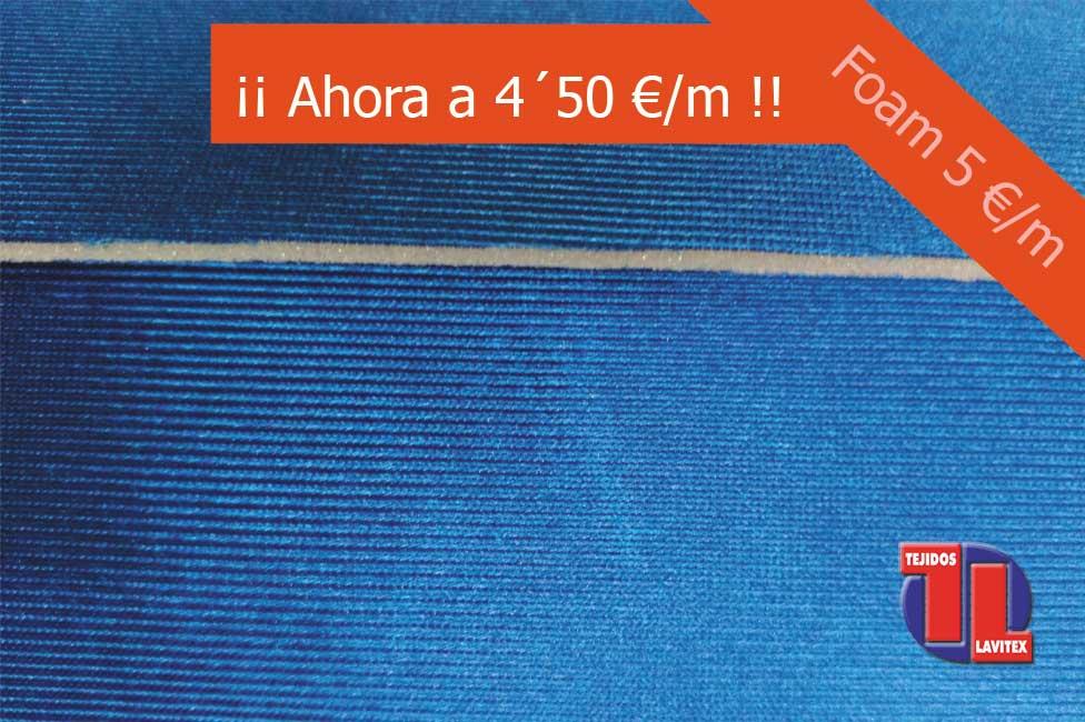 FOAM color azulina y ancho 150cm. Todos los colores disponibles