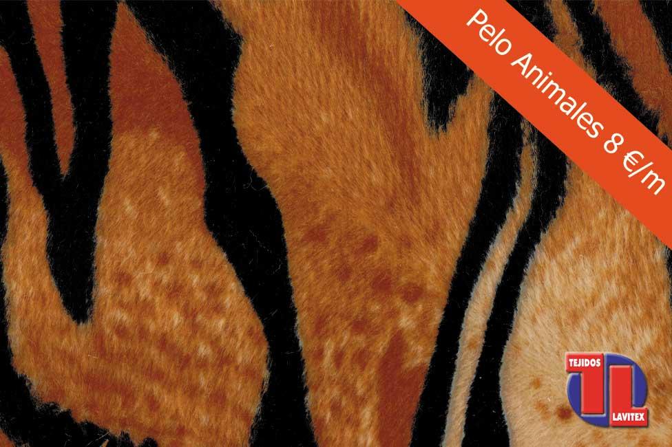 PELO ANIMALES Dibujo tigre, ancho 150cm.