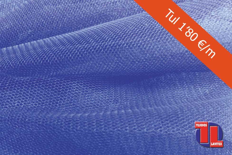 TUL Color morado, ancho 150 cm. Todos los colores disponibles