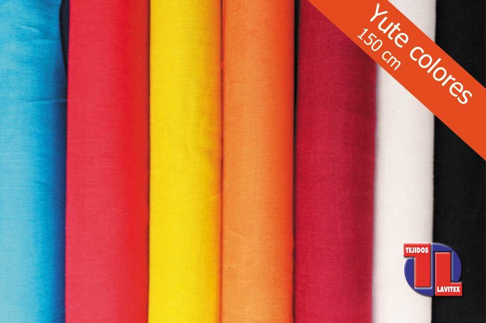 YUTE Colores, ancho 150 cm.