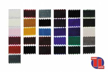 TERCIOPELO 100% Algodón. Carta de colores